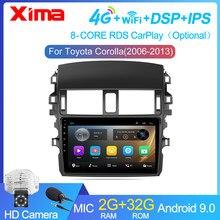 9 дюймов 2Din android dvd 9,0 автомобиль радио мультимедиа видеоплееры для Защитные чехлы для сидений, сшитые специально для Toyota Corolla E140/150 2007 2008 2009 2010 ...