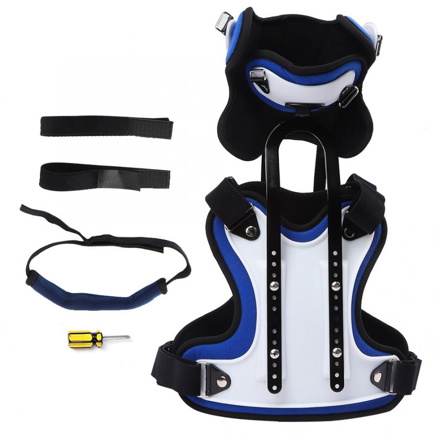 estufa electrica Head Neck Chest Orthosis Adjustable Cervical Thoracic Orthosis U Lumbar Support Heater Plate(China)