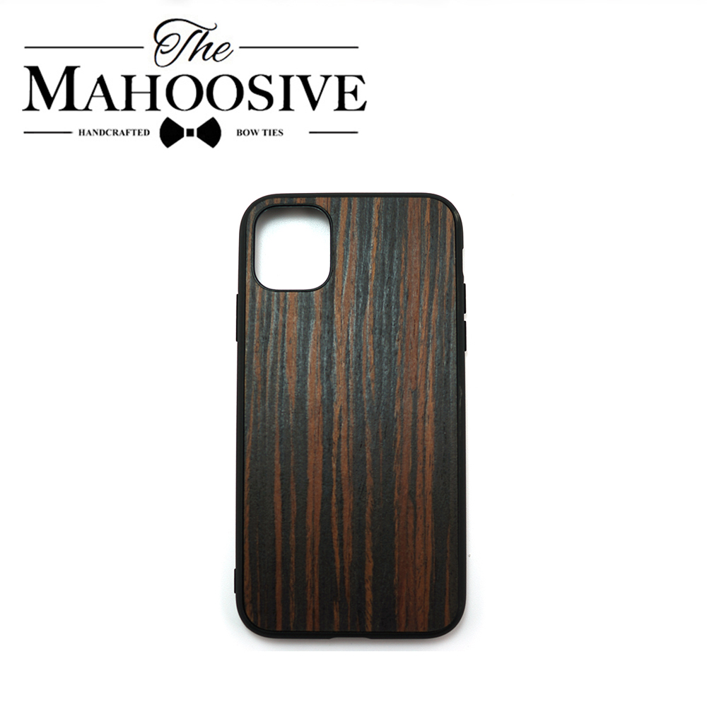 Thin Wood Case For IPhone 7 8 6 6s Plus SE 2 Wooden Cover Name Engraving For IPhone X Xs 11 Pro Max XR Black Rosewood