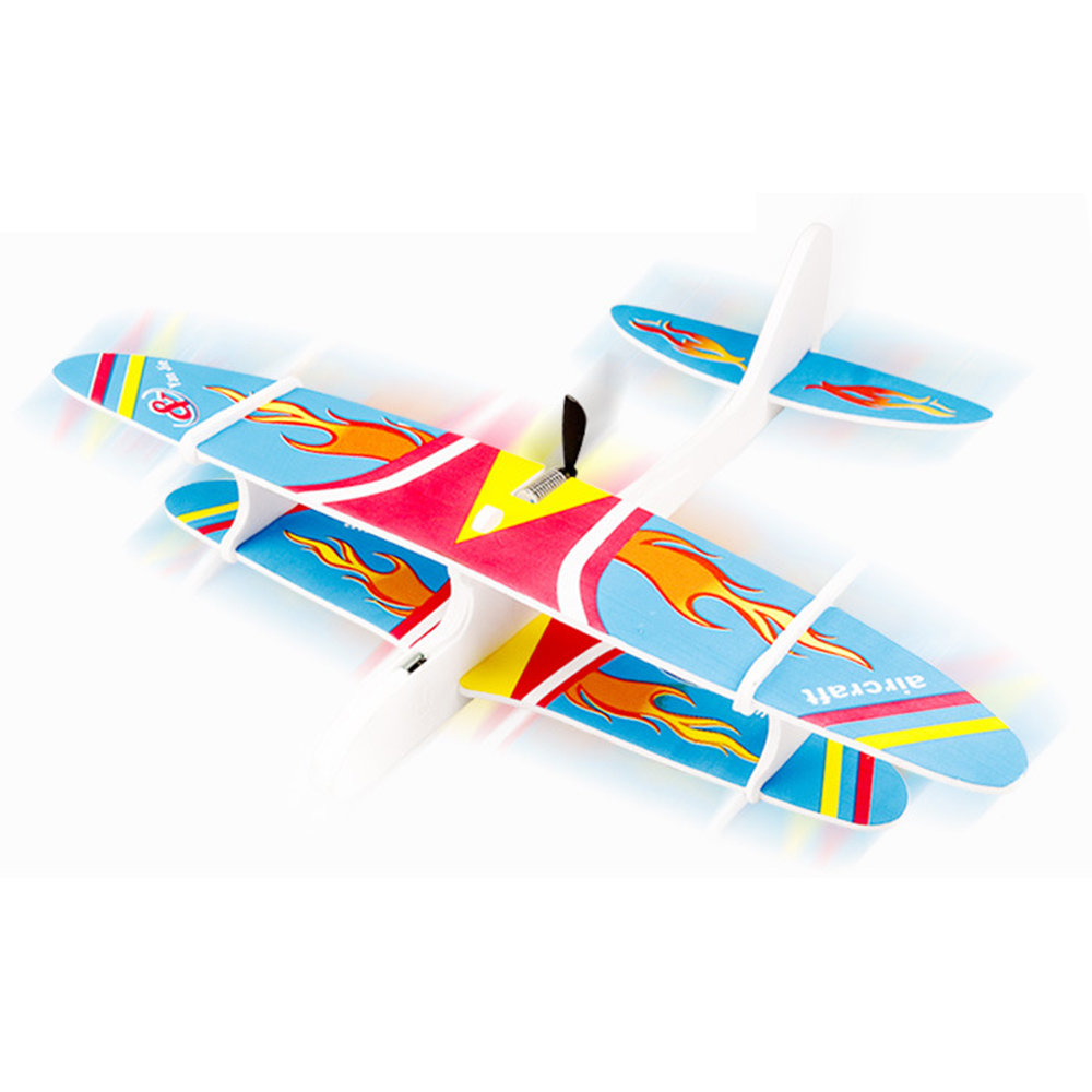 Hand Throw Plane Glider Electric Airplane Toy Durable Epp Foam Aeroplane Model Fun Gift Outdoor Launch Flying Game For Kids