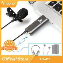 MAONO USB mikrofonu klip kondansatör üzerinde mikrofon yaka mikrofon HandsFree gömlek yaka mikrofon Youtub canlı yayın