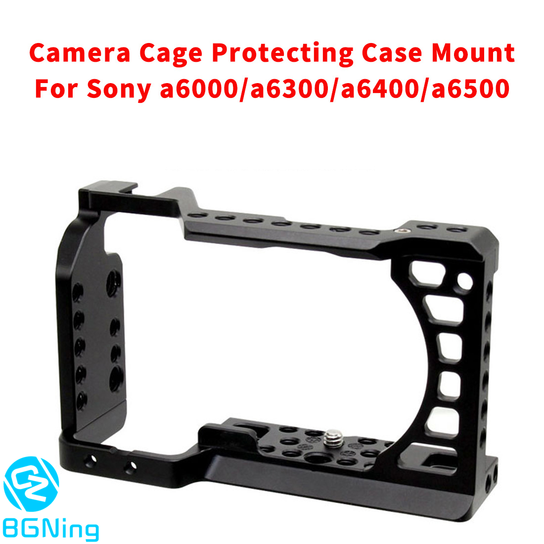 CNC Aluminum Camera Cage for SONY a6500/a6000/a6300/a6400/a6500 DSLR Protecting Case Mount Expansion Cover Quick-Rease Plate Kit