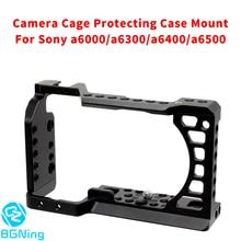 Jaula de cámara de aluminio CNC para SONY a6500/a6000/a6300/a6400/a6500 DSLR, funda protectora de montaje, cubierta de expansión, Kit de placa de sujeción rápida