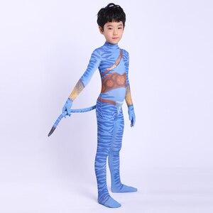 Image 2 - 2019 Avatar 2 Cosplay Costume Adult Kids Zentai Bodysuit Hero Jumpsuits Cosplay Halloween Kids Boy girl Party Costume