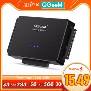 Image 1 - QGeeM SATA to USB IDE Adapter USB 3.0 Sata 2.5 3.5 Hard Disk Drive HDD SSD USB Converter IDE SATA to USB SATA Adapter Cable