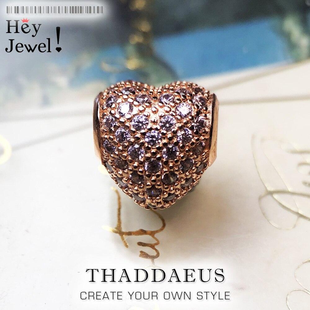 Dijes de cuentas de corazón se ajustan a Europa collar pulsera para Mujeres Hombres cuentas sueltas vino rojo dijes, 2016 nueva moda joyas y accesorios