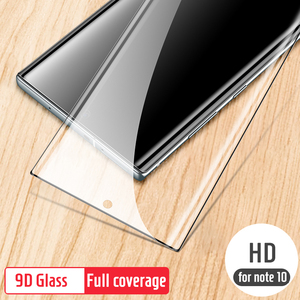Image 3 - 9D verre trempé pour Samsung note 10 protecteur décran en verre plein bord incurvé pour Samsung note 10 Plus 10 + Pro verre de protection