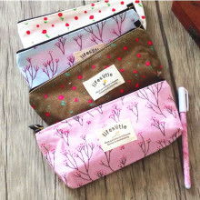 20pcs/lot kawaii Simple stationery bag large capacity pencil case zipper strong wholesale