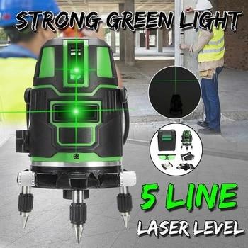 ZEAST Powerful Green Light Laser Level 5 Lines Automatic Self Leveling 360 Vertical Horizontal Tilt Cross Line w/Outdoor Mode