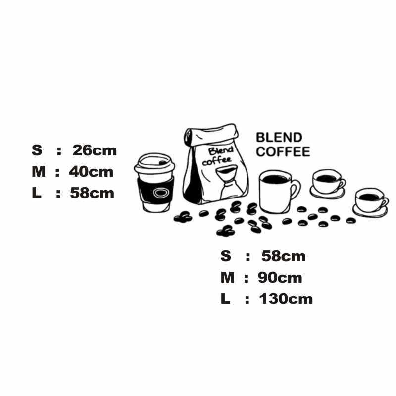 Calcomanía de cafetería con leche de frijol, té, taza de café, póster, arte de vinilo, decoración Mural, decoración para romper el pan, calcomanías de vidrio de café