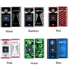 Electronic Cigarette Vaporizer Original Vaptio CAPT'N 220W VAPE Box Mod For 510 Thread Vape Mods Support RTA RDA RDTA No Battery