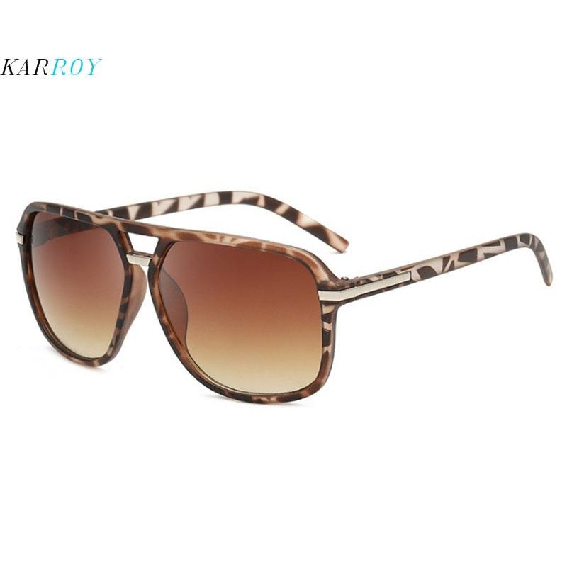 Retro Square UV400 Women Sunglasses Big Frame Double-beam Spectacles Sun Glasses Men 2019