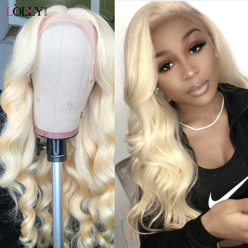 13x4 613 Honey Blonde Pre-Plucked Brazilian Wig Remy Hair Body Wave Wig Glueless Full Lace Front Human Hair Wigs for Black Women image