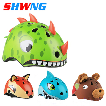 SHWNG Cycling Bike Bicycle Cartoon Sports Child Helmets Safety Kids Toddler Helmet Pulley Dinosaur Boys Grils Bike Helmets hits shine professional child s bike kid bicycle cycling safety for children age 20 month to 4 years old health bicycle 12 inch