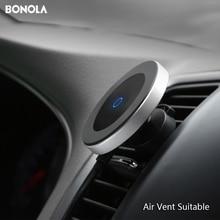 Bonola แม่เหล็กรถไร้สายสำหรับ iPhone11ProMax/XR/XS/8 PLUS Qi Wireless Car Charger สำหรับ samsungS10/S9/Note10/S8