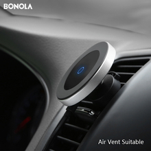 Bonola المغناطيسي سيارة شاحن لاسلكي ل iPhone11ProMax/Xr/Xs/8 Plus تشى الهاتف شاحن سيارة لاسلكية ل SamsungS10/S9/نوت 10/S8