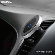 Bonola מגנטי רכב אלחוטי מטען עבור iPhone11ProMax/Xr/Xs/8 בתוספת Qi טלפון אלחוטי מטען לרכב עבור samsungS10/S9/Note10/S8