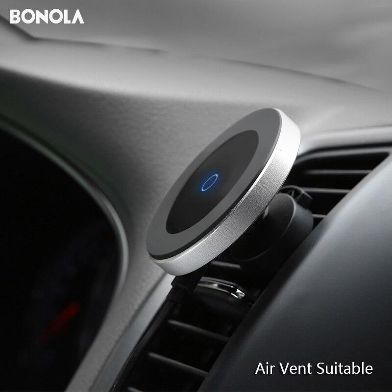 Bonola 磁気車のワイヤレス充電器 iPhone11ProMax/Xr/Xs/8 プラスチー電話ワイヤレス車の充電器 samsungS10/S9/Note10/S8 - BONOLA Store