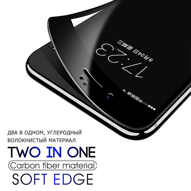 3PCS Curved Edge Protective Glass on For iPhone 7 8 6 6s Plus SE 2020 Tempered Glass Film on iPhone X XR XS Max Screen Protector 5
