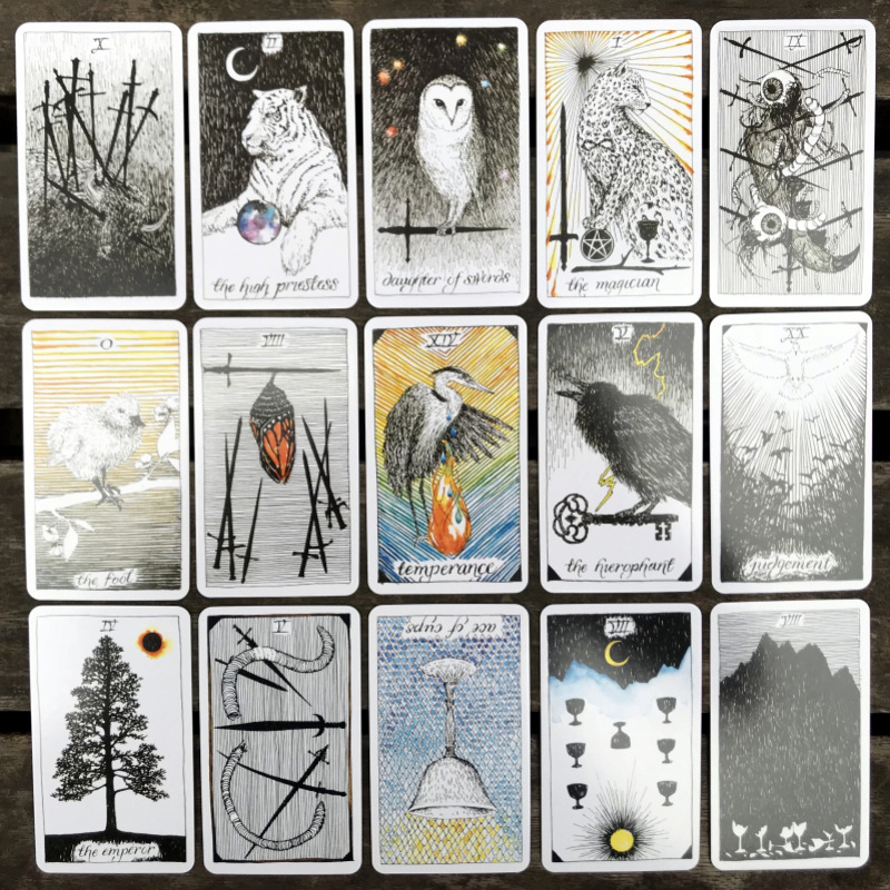 English Wild Unknown Tarot Wild Tarot Cards Family Entertainment kids toys High Quality Tarot Deck Board Game Cards 78 cards/set 1