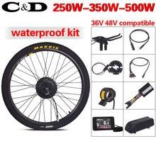 Электрический велосипед набор для электровелосипеда конверсионный Комплект 36 в 48 в 250 Вт 350 Вт 500 Вт MXUS мотор с прямым приводом LCD3 LCD8 Julet водонепроницаемый разъем