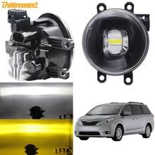 Montaje de luz antiniebla DRL para coche, luz LED antiniebla, 12V, para Toyoya Sienna 2009 2010 2011 2012 2013