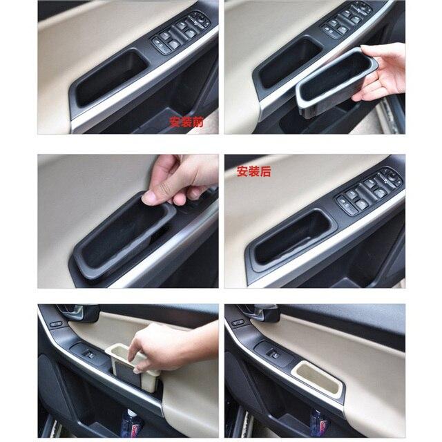 اكسسوارات السيارات الداخلية وحدة التحكم المركزية الثانوية المنظم داخل الباب مقبض مسند الذراع صندوق تخزين لفولفو xc60 s60 v60 2010-2