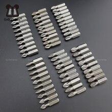 משלוח חינם 10 יח\חבילה 25mm פיליפס Bits Hex Shanked אנטי להחליק מברג ביטים מגנטי יחיד ראש PH1 / PH2 / PH3 PZ1 PZ2