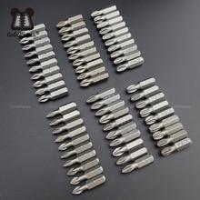 Darmowa wysyłka 10 sztuk/partia 25mm Phillips bity Hex Shanked antypoślizgowe wkrętaki bity magnetyczne pojedyncze głowy PH1 / PH2 / PH3 PZ1 PZ2