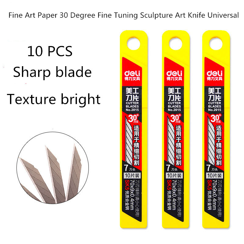 Art Blade 30 Degree Trimmer Blade Sculpture General Purpose Knife 10pcs / Box Deli2015