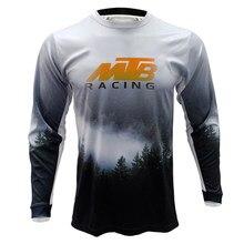 Venda quente mtb misty floresta elementos rpet dh mx mountain bike fora de estrada camisa masculina respirável longa camiseta