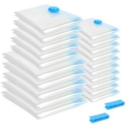 20 sztuk/zestaw worek próżniowy składany na ubrania torba przezroczysta duża pojemność sprężonego organizer do domu|Składane torby do przechowywania|   -
