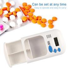 ミニポータブルピルリマインダー薬アラームタイマー電子ケースピルボックスオーガナイザー Led ディスプレイ時計思い出させるスモール応急処置キットピルボックス