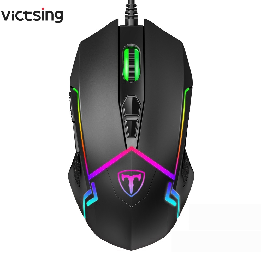 VicTsing Wired RGB Gaming Mouse 7 Programmable Buttons 7200 DPI Adjustable Optical Gaming Mouse Ergonomic USB Computer Mice