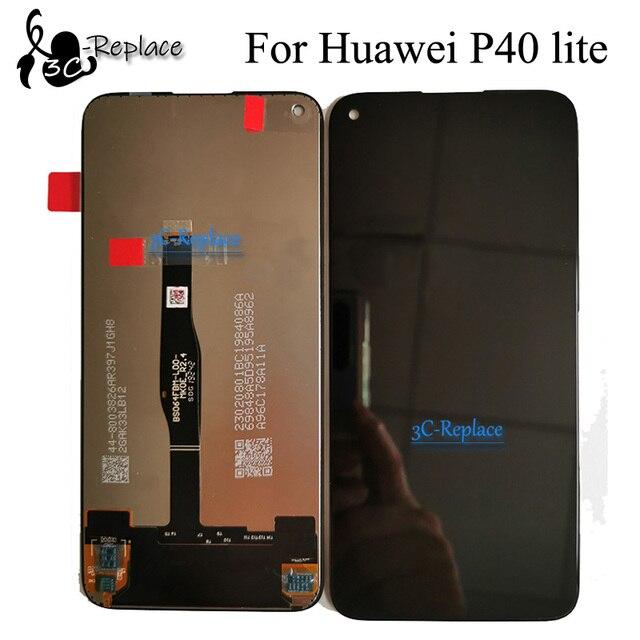 Czarny 6.4 cal dla Hua wei P40 lite P40lite JNY-L21A JNY-L21 JNY-L22 wyświetlacz LCD montaż digitizera ekranu dotykowego wymiana