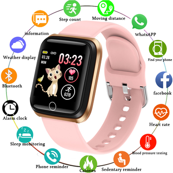 2020 Smart Watch Women Fitness Tracker Heart Rate Blood Pressure Monitor Pedometer For Android ios Health Smart Sport Watch +Box smart watch p68 heart rate blood pressure monitor fitness tracker fitness bracelet for iphone android smart sport health watch