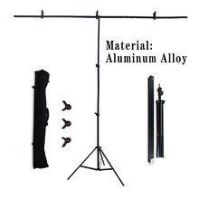 Photography background T-Shape Background Stand Backdrop Screen Support System Green Video Chroma Key With Carry Bag, For Studio