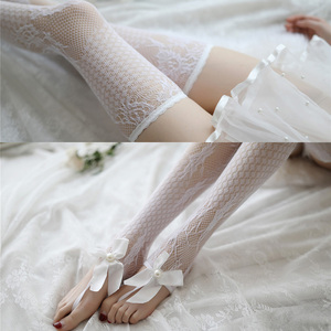 Image 3 - Porno Erotic Costumes for Women Transparent White Black Sexy Lingerie Lace Cute Female Underwear with Socks and Collar Babydolls