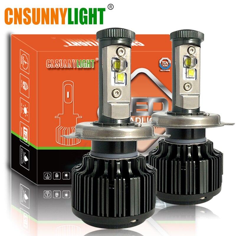 CNSUNNYLIGHT H4 Hi/Lo H7 LED H11 9005 9006 Kit de phare de voiture 80W 8000lm 6000K blanc ampoules d'éclairage de voiture lumières automobiles 12V 24V
