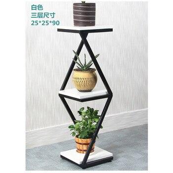 Простая многоэтажная железная стойка для цветов, металлическая стойка для посадки на балкон для растений, европейская полка для цветов для ...