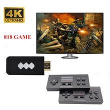 Consola de videojuegos USB con 818/620 juegos clásicos, mando inalámbrico 4K HD compatible con salida Retro portátil para TV