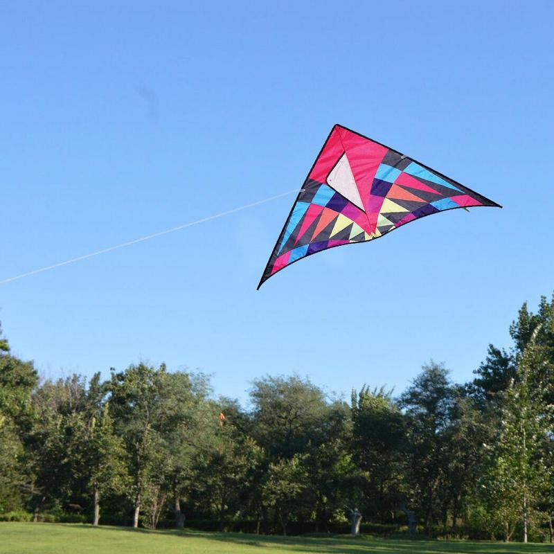 Three Color Rainbow Kite Nylon Ripstop Flying Toys Kite With Control Bar And Line Dragon Kite Windsock Parafoil Kite Good Flying