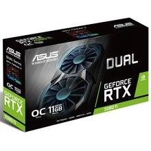 ASUS DUAL-RTX2080TI-O11G Turing Architektur Desktop Spiel Grafikkarte GDDR6 Unterstützung 4 bildschirm ausgegeben