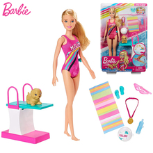 Diving Champion Sports Doll Athletes Yoga Barbie Doll Juguetes Toys for Girls Br
