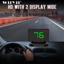 A5 אוניברסלי רכב GPS HUD ראש Up תצוגת מד מהירות דיגיטלי מעל מהירות התראה שמשה קדמית אוטומטי ניווט אבחון כלי