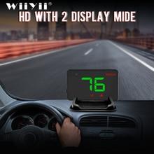 A5 ユニバーサル車のgps hudヘッドアップディスプレイスピードメーターデジタルオーバースピードアラートフロントガラスオートナビゲーション診断ツール