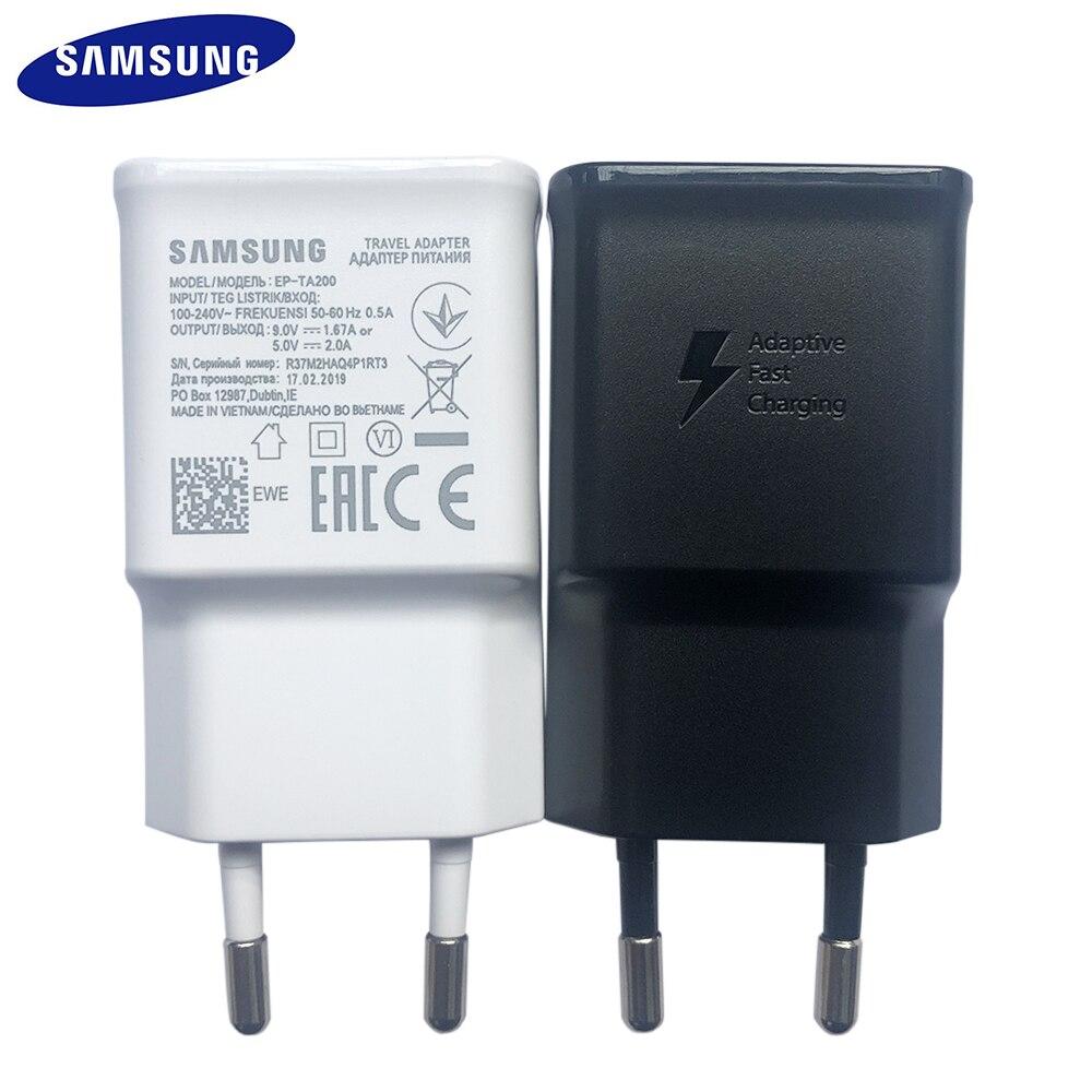 Original samsung EP-TA200 ue eua carregador rápido adaptador de viagem rápida para galaxy s10 s9 s8 s7 s6 edge plus j5 j7 j3 nota 9 8 a 7 5 3