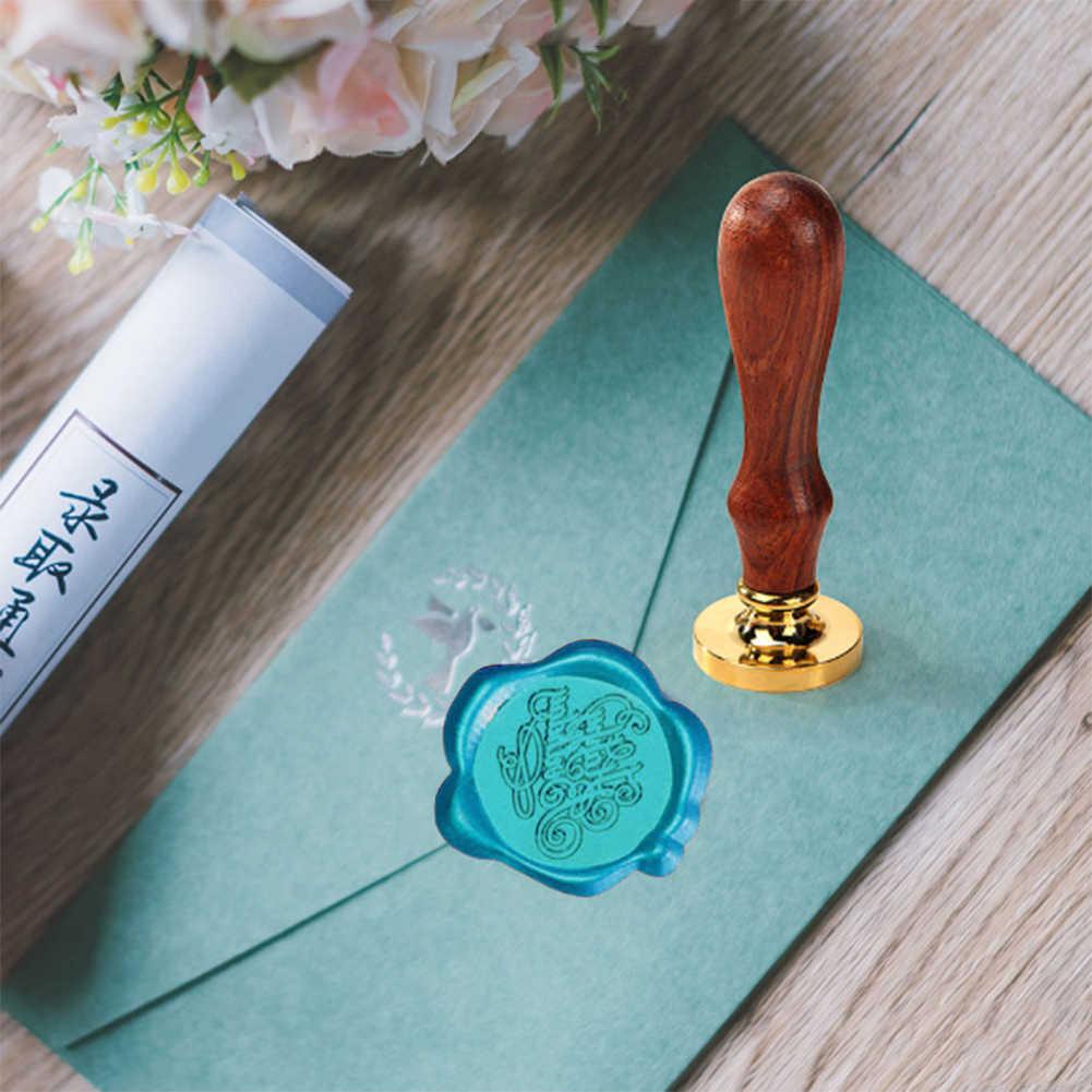 1 תיבת בציר DIY מתומן איטום שעווה Tablet חותם ייעודי חותמת שעוות חרוזים חתונה שעוות חותם עתיק איטום שעווה