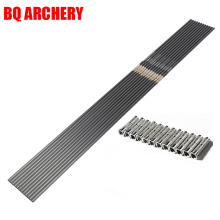 12pcs Pure Carbon Arrows Shaft ID4.2/6.2mm Spine300-800 Compound Traditional Recurve Bow Hunting Archery