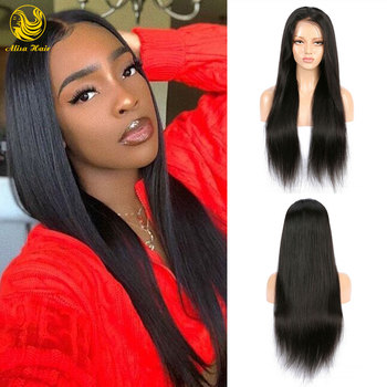 Glueless 13x4 Lace Front Human Hair Wigs Natural Straight Virgin Brazilian Lace Wigs Pre Plucked Hairline with Baby Hair
